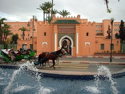 La-Mammounia-Hotel-Horse-and-Carrige