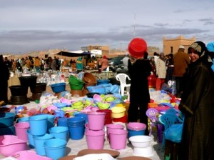 Imported Plastic Goods at the Sunday Souk, Ouarzazate, Morocco