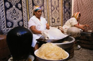 Woman Making Pastilla