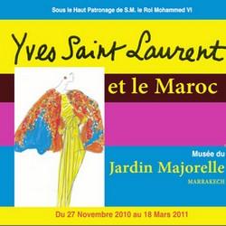 Yves Saint Laurent Exhibition Postcard
