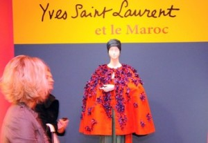 Yves Saint Laurent Exhibition Entrance