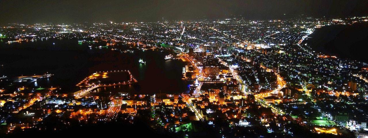 元町、金森倉庫、函館山夜景 1