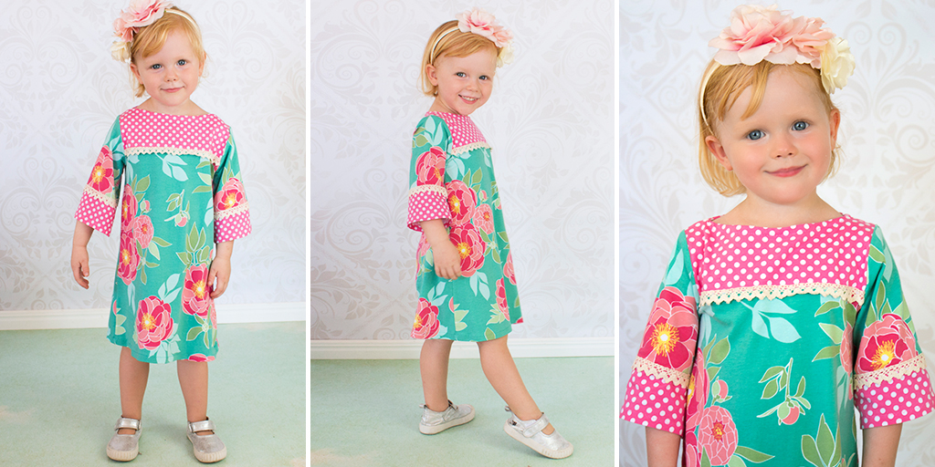 girls stretch dress sewing pattern