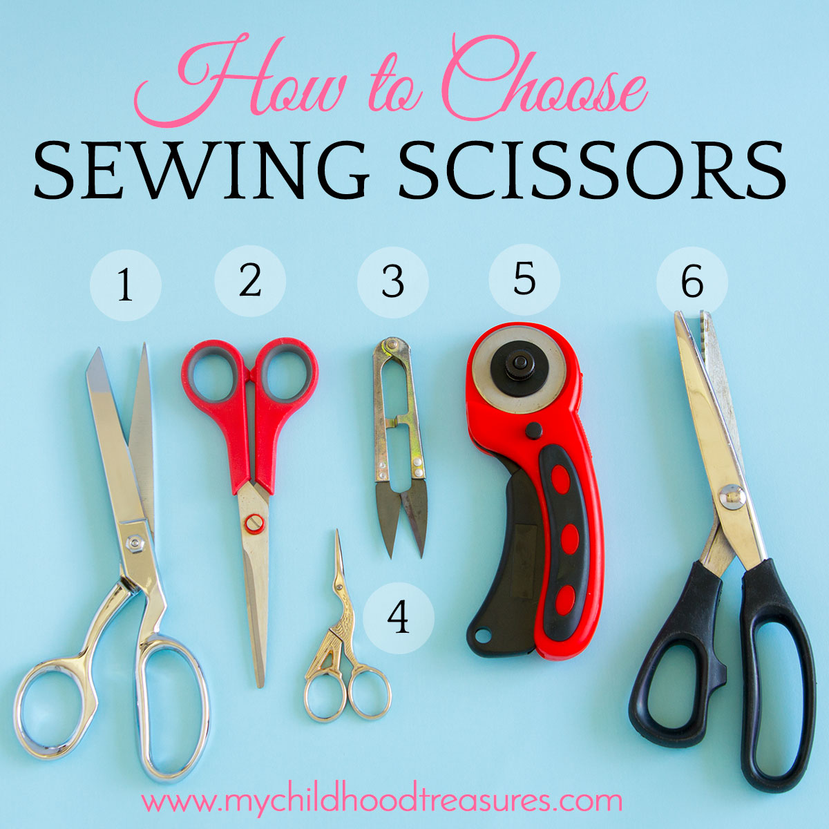 types of sewing scissors