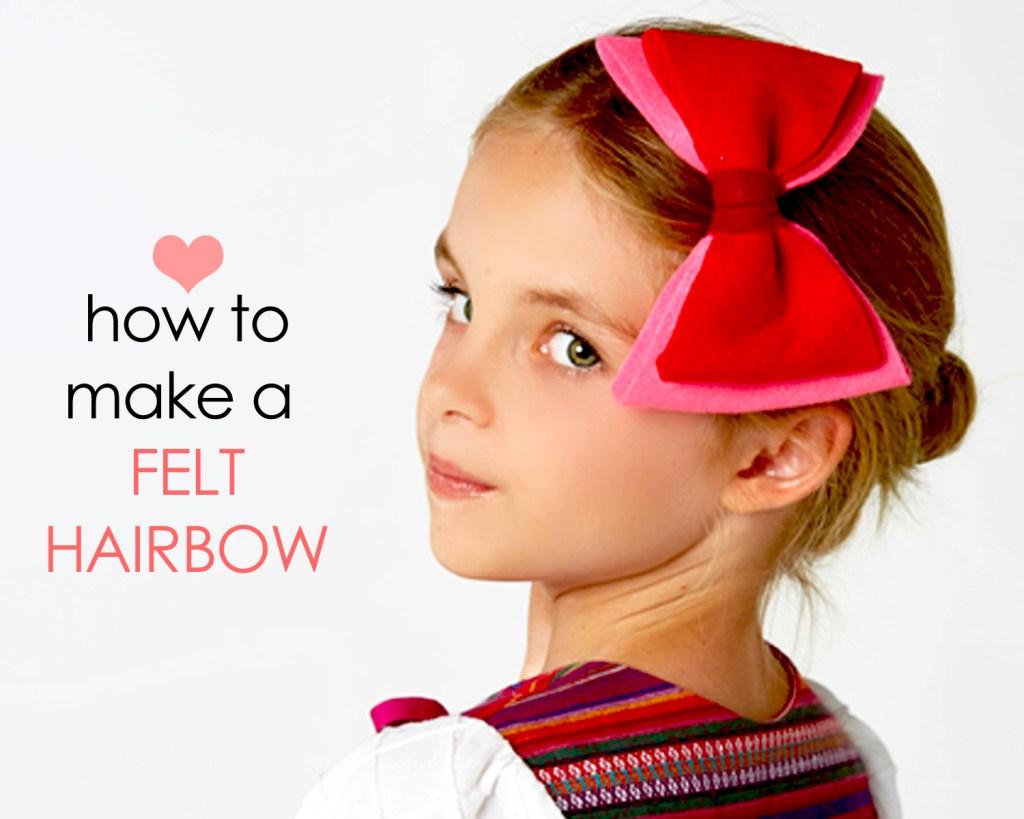 felt bow template tutorial