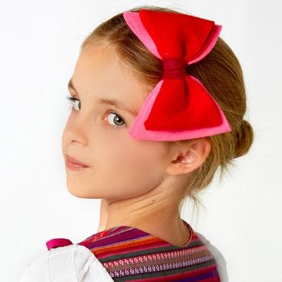 how to make a felt hairbow