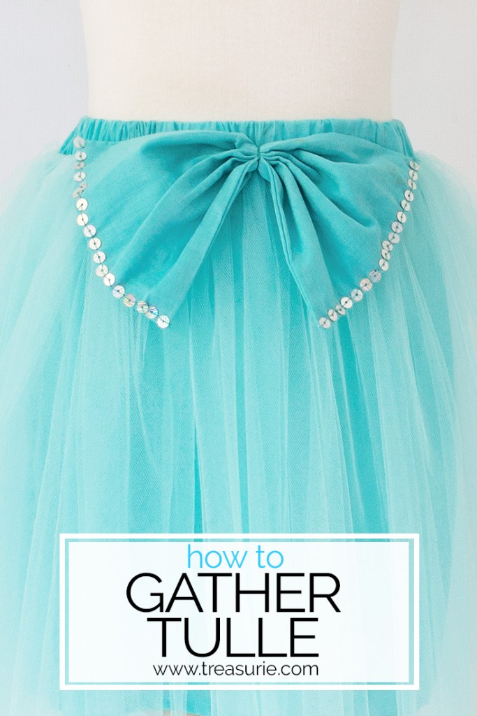how to sew tulle, how to gather tulle