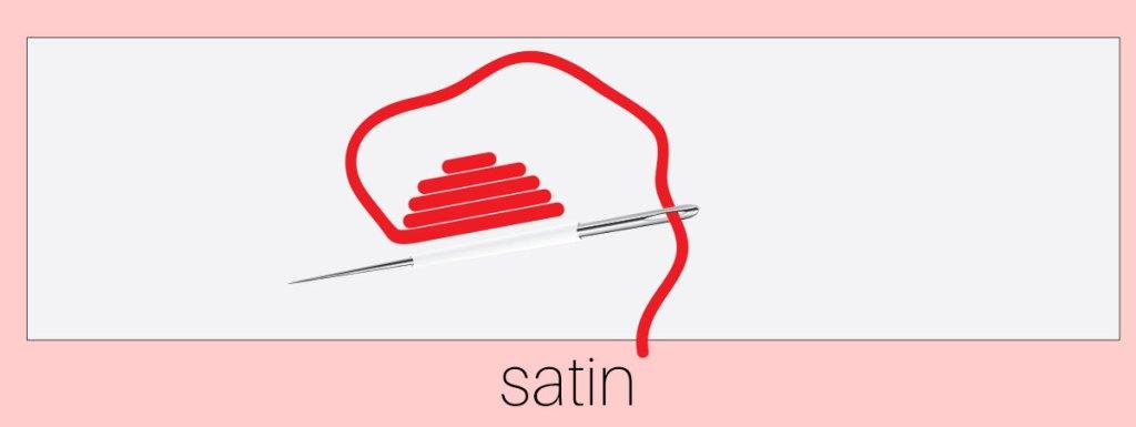how to sew satin stitch