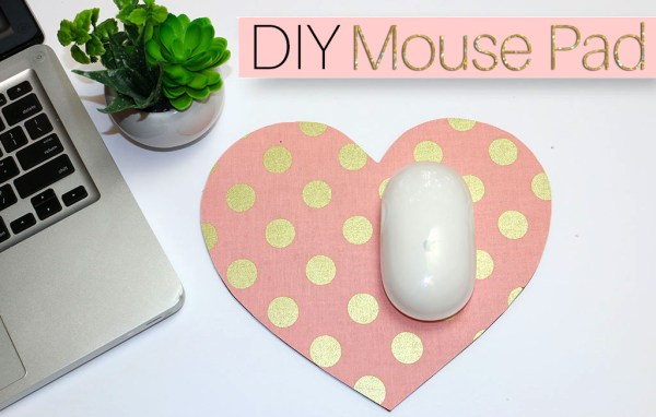 how to make a fabric mouse pad