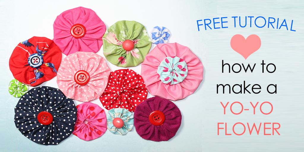 how to make fabric yo yos