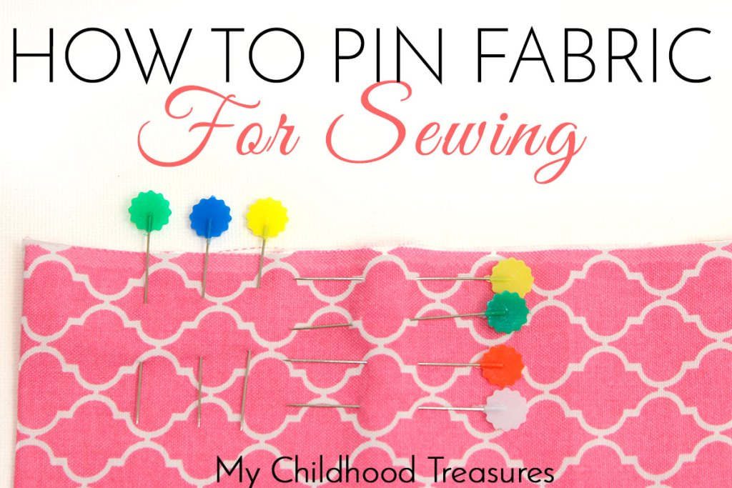 how to pin fabric