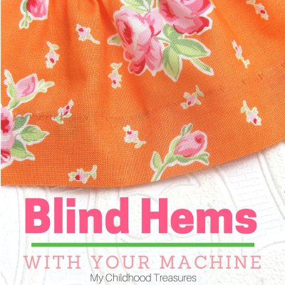 How to Sew a Blind Hem – With your sewing machine