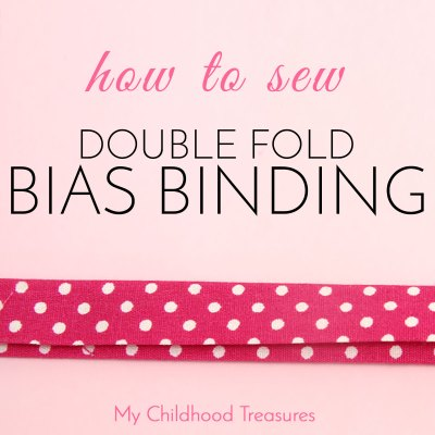 How to Sew DOUBLE FOLD Bias Tape for Beginners