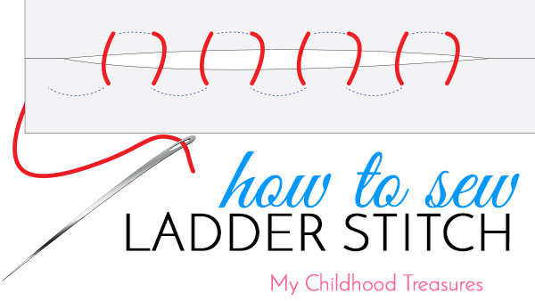 how to sew ladder stitch