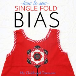 How to Sew Single Fold Bias