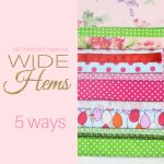 How to sew a wide hem
