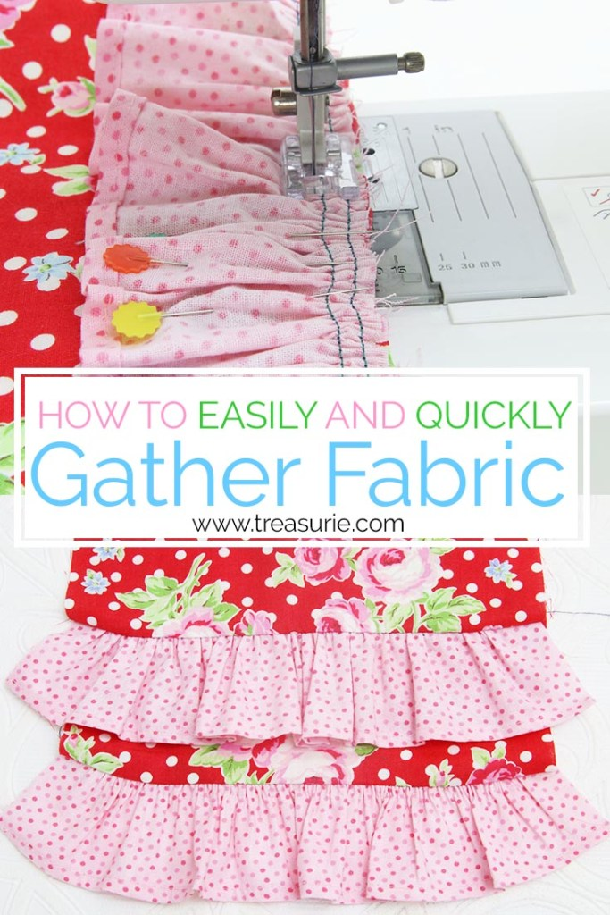 how to gather fabric, how to make a ruffle