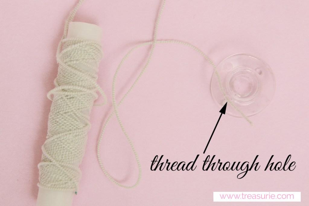 How to wind elastic thread