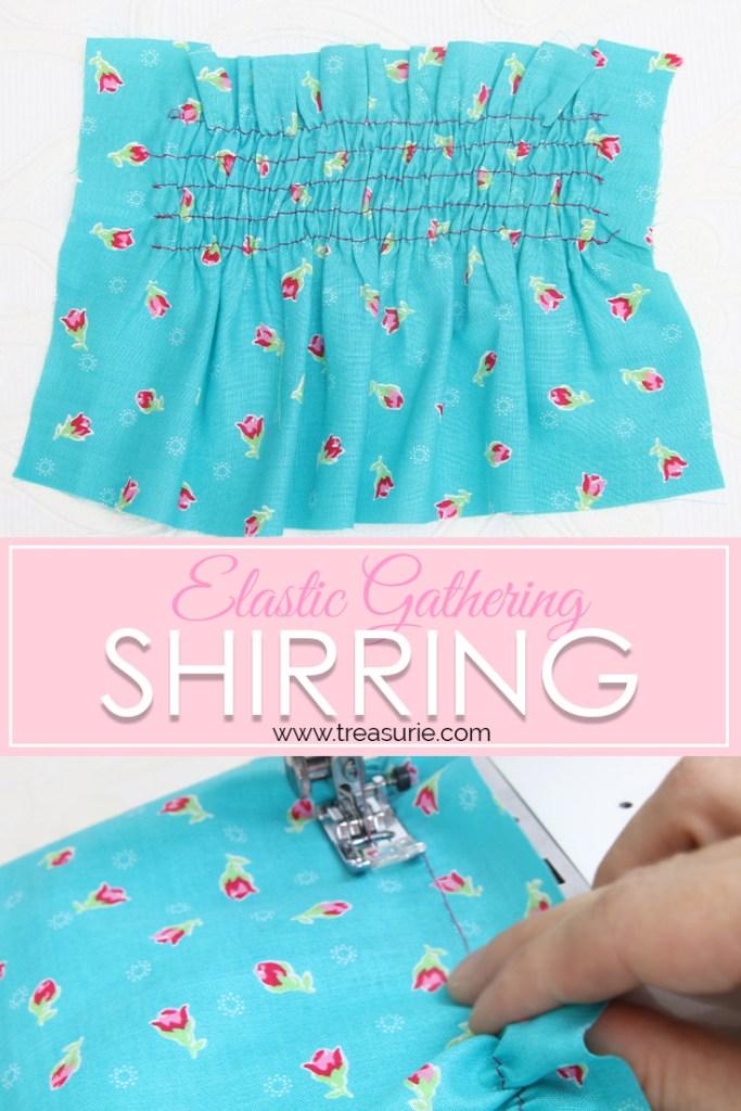 shirring fabric, Sewing with elastic thread