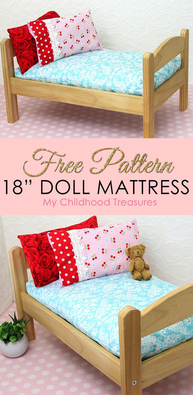 doll mattress pattern, how to make a doll mattress
