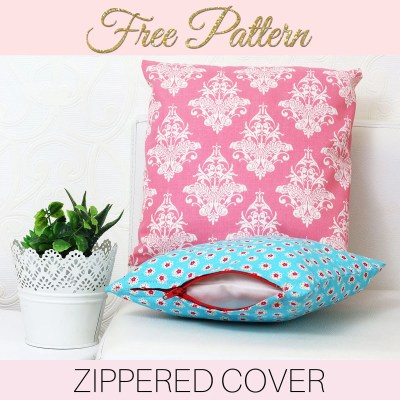 How to Make Cushion Covers – EASY Zippered Cushion Covers