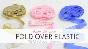 how to sew fold over elastic