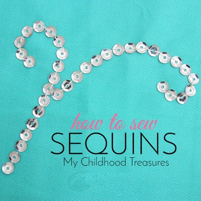 how to sew sequins