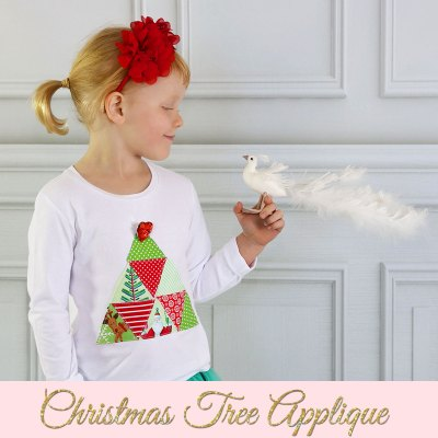 Christmas Applique – Tree Applique with FREE Template