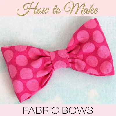 How to Make Fabric Bows: DIY Fabric Bows