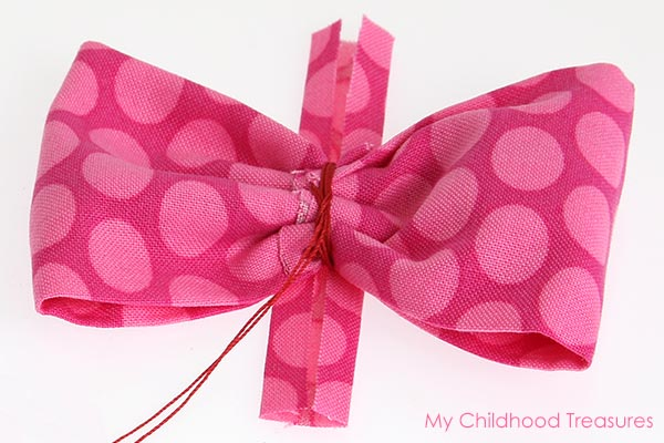 diy fabric bow step 6