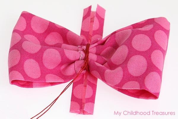 diy fabric bow step 6