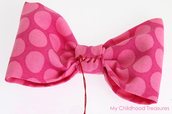 diy fabric bow step 7
