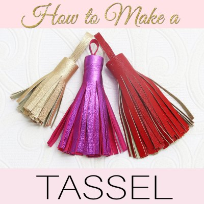 How to Make a Tassel – Stylish Leather Tassels for your Projects