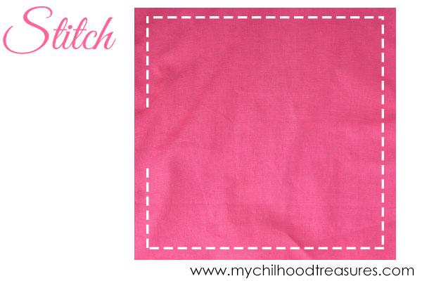 how to make cloth napkins step 1