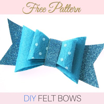 DIY Felt Bow – With FREE Printable Pattern