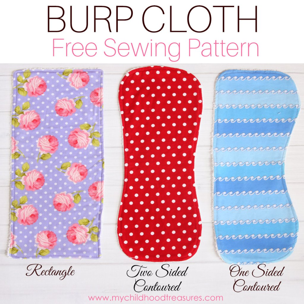 Burp Cloth Pattern Free Printable Pattern For 3 Styles Treasurie