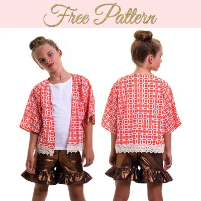 Free Kimono Jacket Pattern: Simple Pattern for Girls