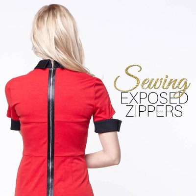 How to Sew an Exposed Zipper – 2 SUPER Easy Methods