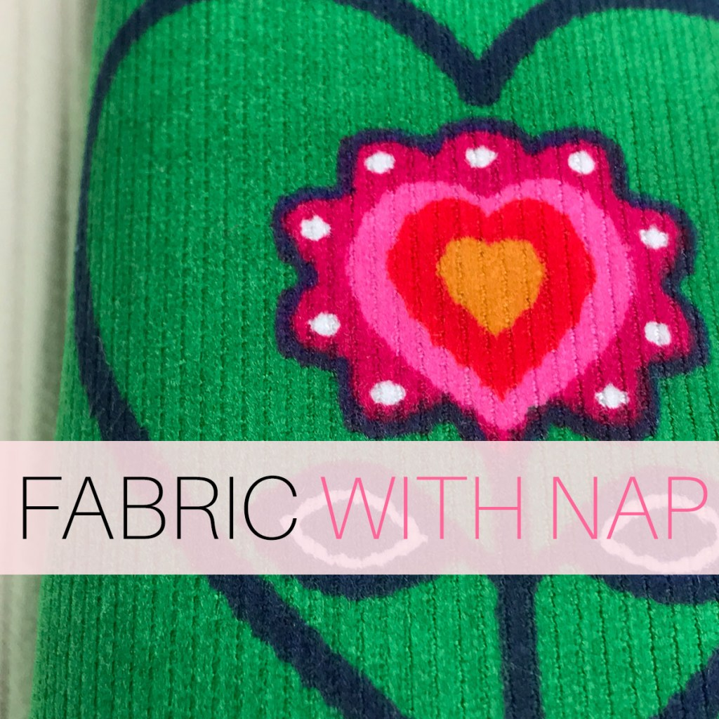 napped fabric, what is fabric with nap in sewing
