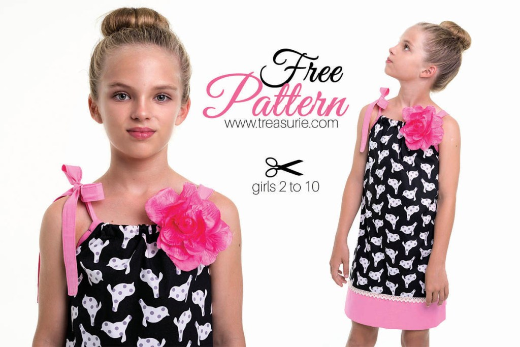 Pillowcase Dress Pattern Free Dress Pattern For Girls TREASURIE Magnificent Free Pillowcase Dress Pattern