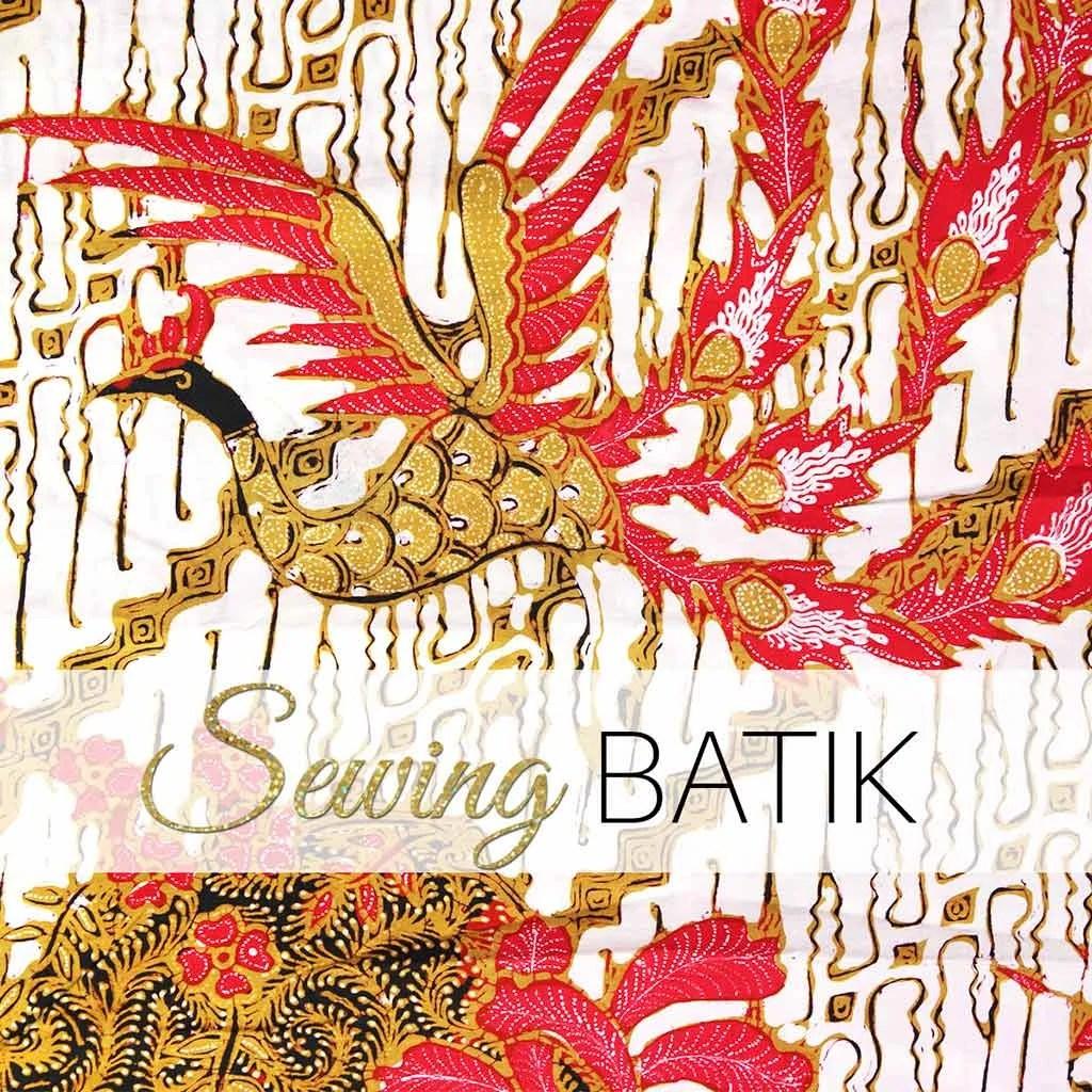 sewing batik
