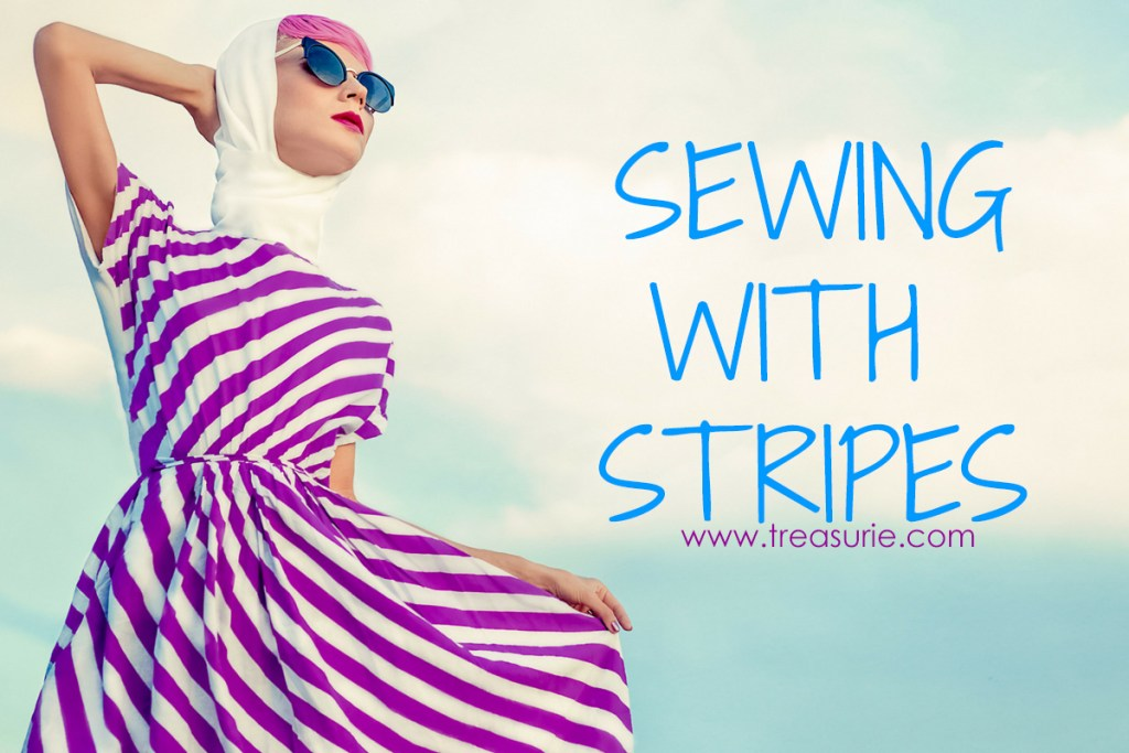 sewing with stripe fabric