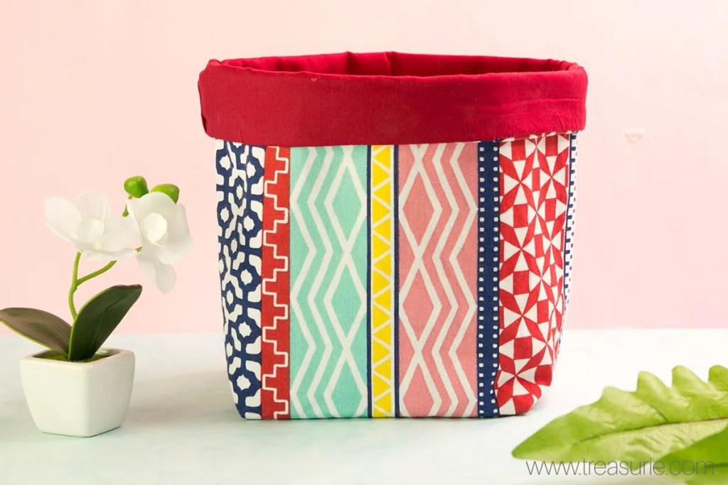 how to make fabric storage baskets