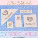 Make your own Clothing Labels: DIY Fabric Labels Cheaply