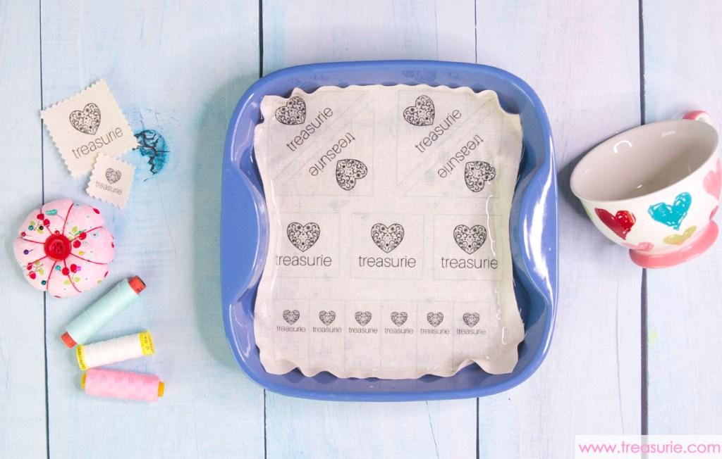 make fabric clothing labels soak