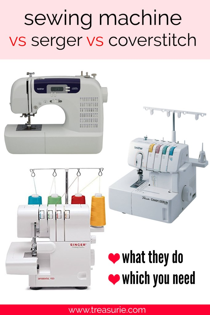 Sewing Machine Vs Serger Vs Coverstitch The Difference TREASURIE Enchanting Coverstitch Sewing Machine