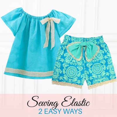 Sewing Elastic in an Elastic Waistband: 2 Ways