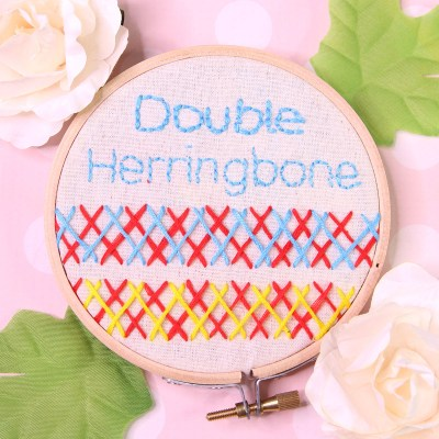 Double Herringbone Stitch | Embroidery Tutorial