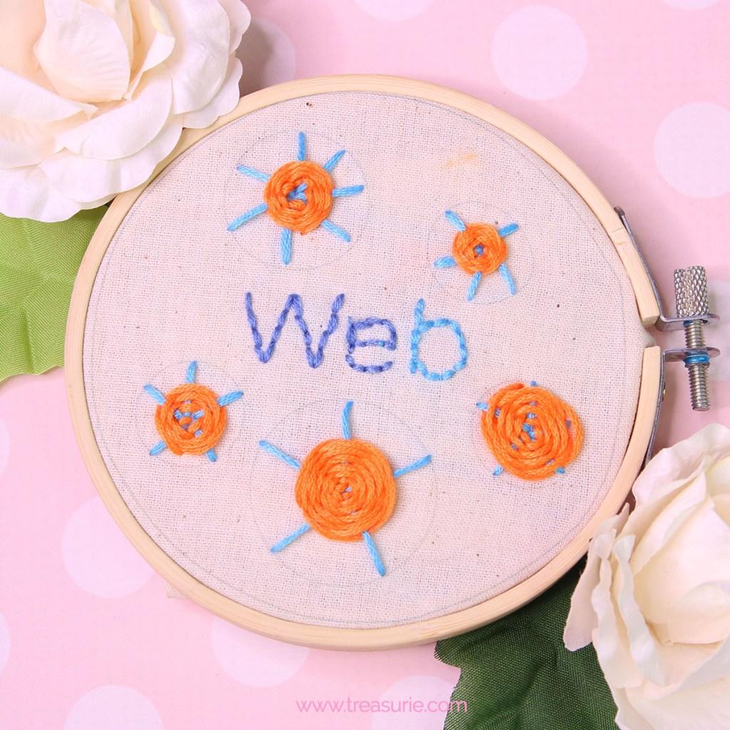 web stitch embroidery