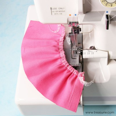 Gathering with a Serger | Easy and Fast Method